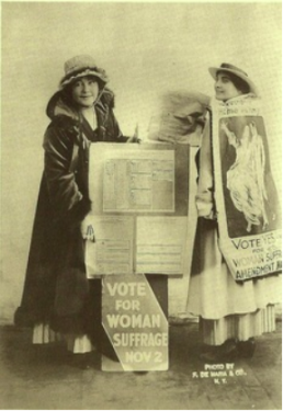 Rose as a suffragette